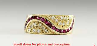 STRIKING MODERN 18K YELLOW GOLD DIAMOND RUBY RING