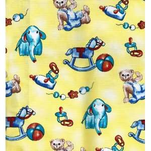 Horses (2.5 tall), Beads, Ball, Safety pins, Bottles, Pacifier Fabric