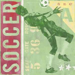 Oopsy daisy Game Ticket Soccer Wall Art 30x30