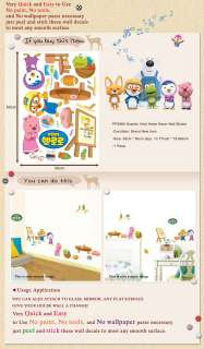 PSS58560 PORORO S10 Kids Room Wall Decals Deco Sticker