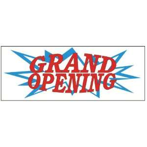 Grand Opening Blue Burst Business Banner