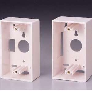 Single Gang Wall Box Color White Electronics