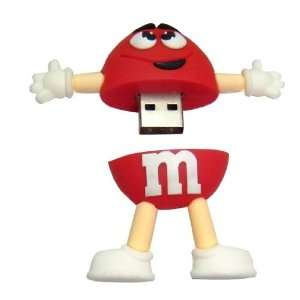 4GB Cool New M&M Style USB flash drive(Red)