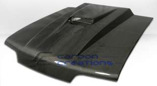 87 93 Ford Mustang Cowl Carbon Fiber Hood
