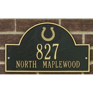 Indianapolis Colts Black & Gold Personalized Address