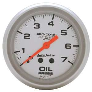Auto Meter 4421 J 2 5/8 Mechanical Oil Pressure Gauge