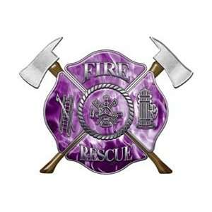Firefighter Fire Rescue Firefighter Decal Inferno Purple 4