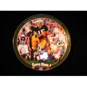 Bowl I Collectors Plate Green Bay Packers & Kansas City Chiefs