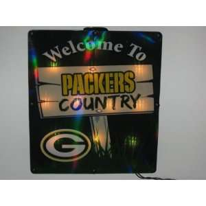 com GREEN BAY PACKERS Team Logo LIGHTED INDOOR / OUTDOOR WINDOW SIGN