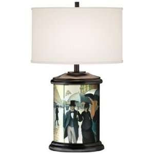 Rue de Paris Giclee Art Base Table Lamp