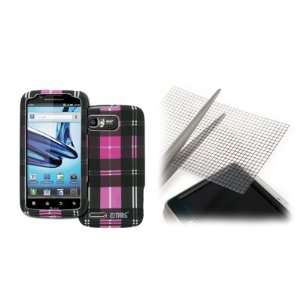 EMPIRE Motorola Atrix 2 Rubberized Design Hard Case Cover (Pink Plaid