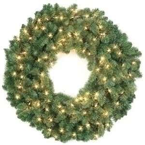 48 Pre Lit Artificial Douglas Fir Christmas Wreath 150