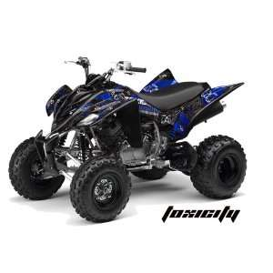 AMR Racing Yamaha Raptor 350 ATV Quad Graphic Kit   Toxicity Black