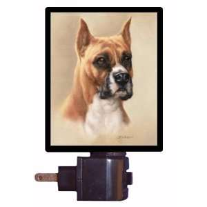 Dog Night Light   Boxer Portrait   LED NIGHT LIGHT