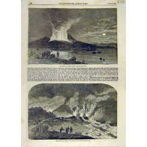 Mount Vesuvius Naples Volcano Eruption Lava Stream 1858