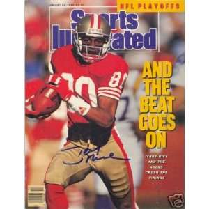 Jerry Rice Autographed Picture   Sf Wr Si Sports