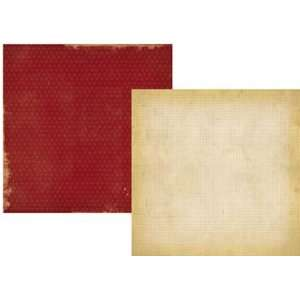 Basics Red Dot/Grid 12 x 12 Double Sided Paper Arts, Crafts & Sewing