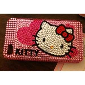 Hello Kitty skin bling rhinestone back hard case for