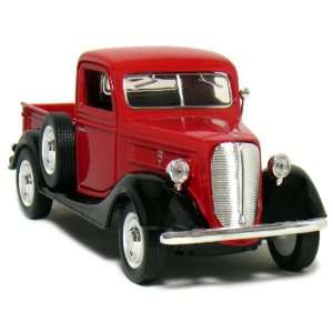 5½ Die Cast 1937 Ford Pickup Truck 134 Scale (Red/Black