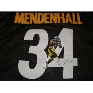 Rashard Mendenhall Signed Autographed Jersey Pittsburgh