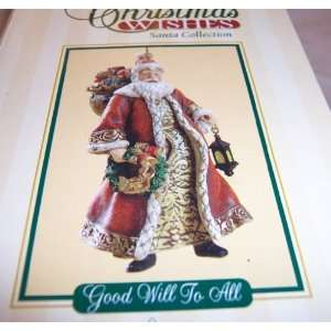 Roman Christmas Wishes Santa Collection Ornament Good Will to All