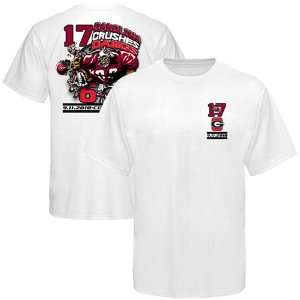 South Carolina Gamecocks vs. Georgia Bulldogs White Crushing Score T