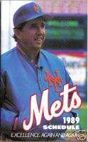 1989 New York Mets Baseball Team Pocket Schedule