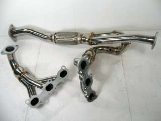 SS Exhaust Manifold Headers 02 03 Nissan Maxima 3.5L V6 NEW