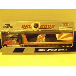 Fleer NHL 2003 180 Diecast Tractor Trailer New Jersey