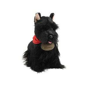 FAO Schwarz 10 inch Floppy Scottish Terrier Dog   Black