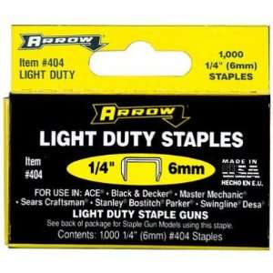 Arrow Light Duty Staples, 1/4