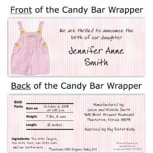Pink Overalls Candy Wrapper Baby