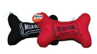Lot of 2 Plush Milkbone Polar Fleece Dog Bone Toys 12 874096001797