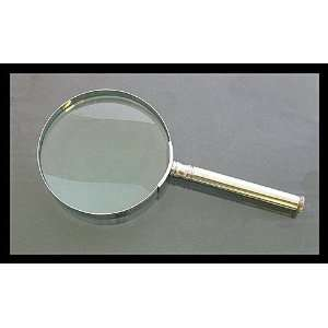 Large, heavy duty 5 inch, 2 power magnifying glass