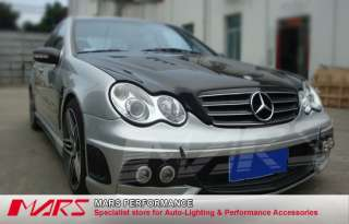Black CL 4 Style GRILLE GRILL for Mercedes Benz W203 Sedan