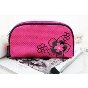 New Adorable Daisy Love Hot Pink Flat Cosmetic Bag