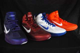 Nike mens Hyperfuse basketball shoes NWOB red, orange, purple, white w