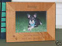 In Loving Memory Pet Memorial Picture Frame Dog