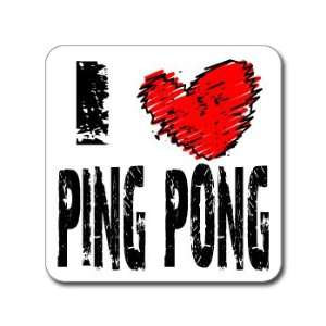 I Love Heart PING PONG   Window Bumper Laptop Sticker Automotive