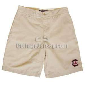 South Carolina Gamecocks Mens Khaki Shorts Memorabilia.