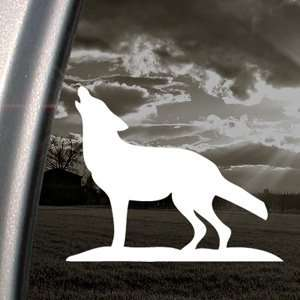 Howling Lone Wolf Decal Car Truck Window Sticker