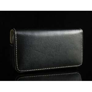 BLACK Executive Leather Case Cover Pouch for Apple iPhone 3G