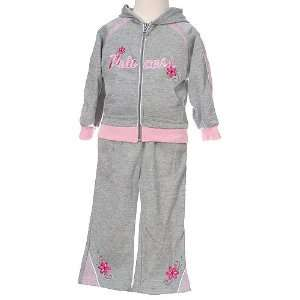 Baby Girls Clothes Grey Princess Jogging Suit Outfit Girl 12 24M n/a