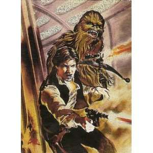 STAR WARS FINEST FOIL MATRIX 1 CARD HAN SOLO CHEWBACCA