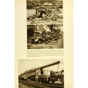 1945 Print German Guns Allied Army Anti Aircraft Weapon