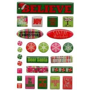 Santas Workshop Epoxy Stickers Arts, Crafts & Sewing