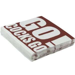 NCAA South Carolina Gamecocks 16 Pack Team Slogan Beverage Napkins