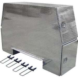 Buyers Products Aluminum Heavy Duty Backpack Truck Box   Diamond Plate