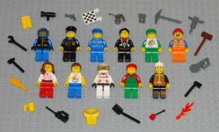 Lego MINIFIGURES Lot 11 People Police Girl Fireman City Space Toys