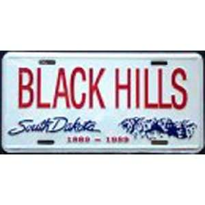 South Dakota Black Hills Metal License Plate Tag Sports